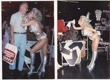 Lot 3: Two ANGELIQUE PETTYJOHN Star Trek convention photos - Ackerman collection