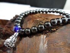 Hematite Magnetic Evil Eye Bead Protection Good Luck Bracelet Kwan Yin Buddha #V