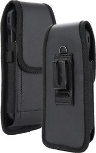 Black Vegan Leather Case Pouch Belt Loop Clip for Samsung Galaxy Z Fold 3 2 5G