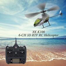 Original XK Falcon K100 6CH 3D 6G System RTF RC Helicopter R0A3