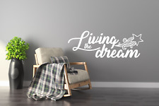 Luxury Living The Dream Quote Wall Stickers Art Room Wall Decal Art Quote
