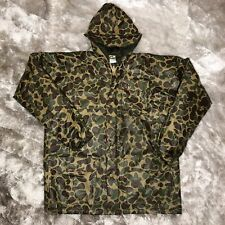 Vintage DUXBAK Camouflage PVC Nylon Coated Duck Hunting Insulated Field Jacket M