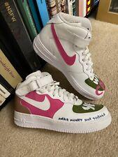 Rare! CUSTOM 1 Nike Air Force AF1 Womens 7Y Women's 8.5 Hi dunk