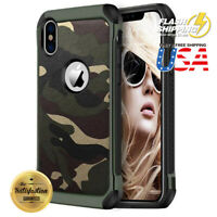 Army Camouflage Soft TPU Heavy Duty Shockproof Case Cover Protective Fits iPhone