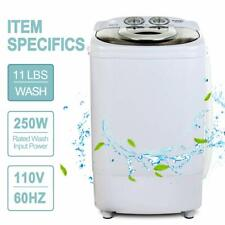 Portable Mini Washing Machine Compact Semi-Automatic Laundry Washer 11LBS White