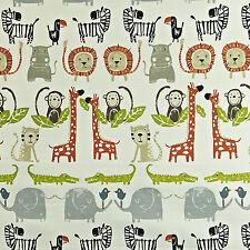 Prestigious Textiles Snappy Orange Fabric Remnant 100% Cotton 60cm x 40cm