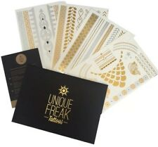 Bali - 4 Pack Luxury Flash Metallic Tattoos by Unique Freak STOCKINGFILLER