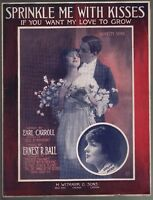Sprinkle Me With Kisses 1915 Large Format Sheet Music