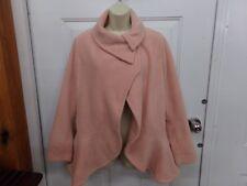 Women's Sz Small Newport News Pale Pink Fleece Coat - Jacket Excellent Condition