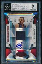 STEPHEN CURRY 2009-10 CERTIFIED MIRROR RED AUTO ROOKIE #D/100 SP BGS 9/10 MINT
