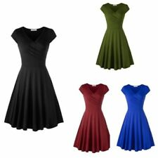 Knee Length Dresses A-Line with Cap Sleeve