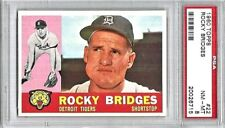 Rocky Bridges Detroit Tigers 1960 Topps Card #22 PSA NM-MT 8