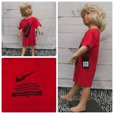 Youth Nike Size 7 Short Sleeve Red Black T-Shirt New With tags Retail $18.00