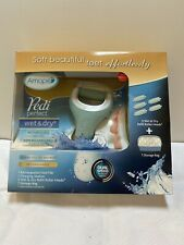 Amope Pedi Perfect Wet & Dry Rechargeable Foot File W/ Bag 5 Roller Heads NIB