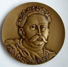 KING SOBIESKI VIENNA ANTI-TURKISH WAR OTOMAN POLISH POLAND / Bronze Medal / N117