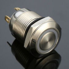 4 Pin 12mm Led Light Metal High Round Push Button Latching Switch Waterproof 12v