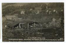 RPPC Flood Damage Club House Ruins Tavern AUSTIN PA Vintage Real Photo Postcard