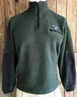 Polo Sport Men's Large 1/4 Zip Fleece Sweater Vintage 90s Green Ralph Lauren USA