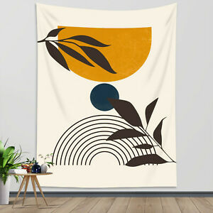 Boho Tapestry Mid Century Modern Minimalist Wall Hanging For Living Room Bedroom