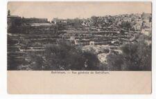 Bethlehem Vue Generale Vintage U/B Postcard US119