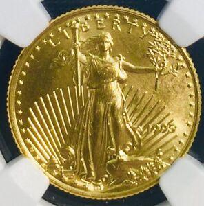 1995 $10 1/4 OZ AMERICAN GOLD EAGLE - MS68 NGC