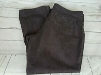 Lee Made to Fit Brown Wash Straight Leg Women Jeans Size 18W Medium