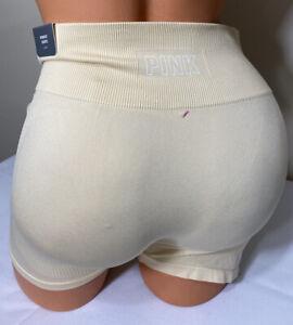 NWT Victorias Secret PINK Seamless Shorts Size Large