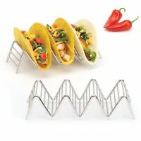 2LB Depot Taco Holder, Taco Stand, Taco Rack, 18/8 Stainless Steel, holds 3/4