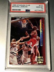1996 Stadium Club Michael Jordan #101 PSA 10 Gem
