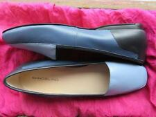 BANDOLINO SHOES  BLUE TRICOLOR LEATHER BALLET FLAT LOAFERS ! SIZE 8M/38