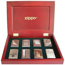Zippo SPECIAL EDITION 8PC SET IN WOODEN BOX  Perfect For Collectors BRAND NEW!!