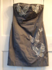Sexy Belle Oasis Grey Silver Butterfly Party/Evening/Cocktail/Prom Dress Size 12
