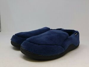 Isotoner Men's Navy Microterry Slip On Slippers 13-14 US