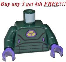 ☀️NEW Lego Torso Dark Green ARMOR Purple Hands Minifigure from 30164 Lex Luthor