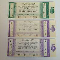 3 VAN HALEN Rare CONCERT FULL INTACT Untorn Concert Tickets TICKET 1995 Tour CA
