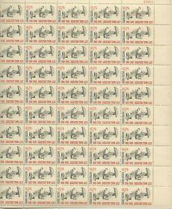 1963 5 cent Letter Carriers Full Sheet of 50 Scott #1238, Mint NH