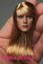 1/6 Gwyneth Paltrow Pepper Potts Head Sculpt Hot Toys Phicen SHIP FROM USA