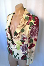 RED VALENTINO Lightweight Wool Floral Jacket w/ One Button Closure - Size 44