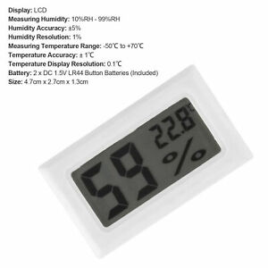 THERMO-HYGROMETER EMBEDDED  DIGITAL LCD DISPLAY ABS TEMPERATURE SENSOR BEST