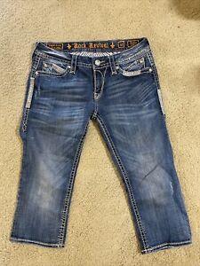 Rock Revival Sasha Capri Denim women jeans Size 30