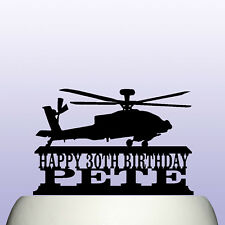 Personalised Acrylic Apache Attack Helicopter Birthday Cake Topper Decoration