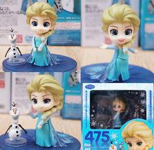 """Anime Frozen Elsa Nendoroid 475# 4"""" PVC Cute Action Figure 3 faces toy kid gift"""
