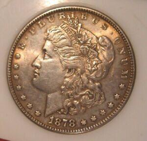 1878 Morgan Silver Dollar - 7TF Rev 1878,  Gold Toning Both Sides 3726