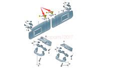 OE 2PCS Retainer for Sun Visor For Golf Jetta Passat CC Scirocco Tiguan