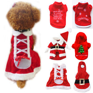 Pet Clothes Xmas Puppy Jumper Sweater Chihuahua Small Dog Cat Apparel Costume