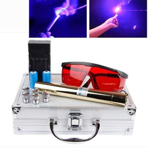 Most Powerful 500000mw 500w 450nm Blue Laser Pointers Flashlight Burn Match Cand