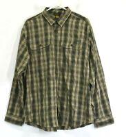 Eddie Bauer Men's Large Long Sleeve Plaid Button Up Travex Breathable Shirt