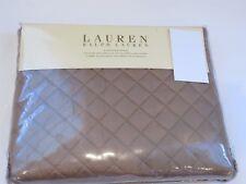 Ralph Lauren SOLID COLOR DIAMOND STITCH Tan Euro sham