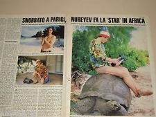 RUDOLF NUREYEV clipping ritaglio articolo foto fotografia 1986