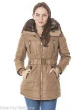 Abrigos y chaquetas de mujer Parka color principal beige de poliéster